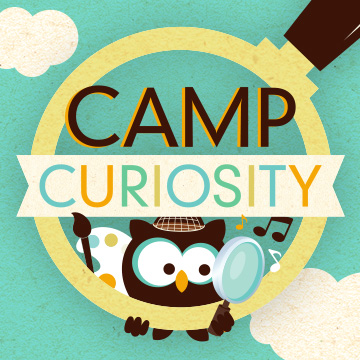 cartoon owl inside magnifying glass